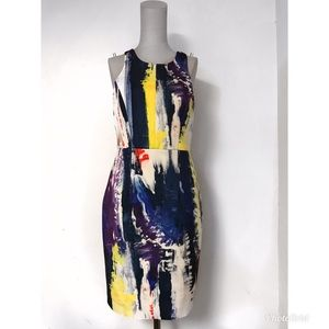 Milly Hayden Graffiti Print Racerback Sheath Dress